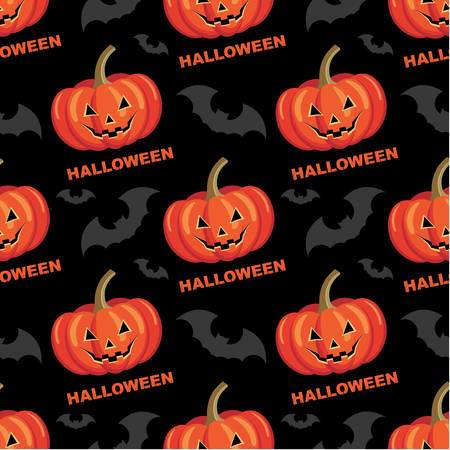 Seamless halloween pattern  vector illustration Vector