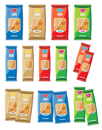 red packet: Pasta  vector