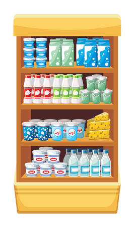Supermarkt Zuivelproducten vector Stockfoto - 22962091