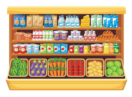 grocery store: Supermarket  Illustration