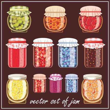 Set of jam