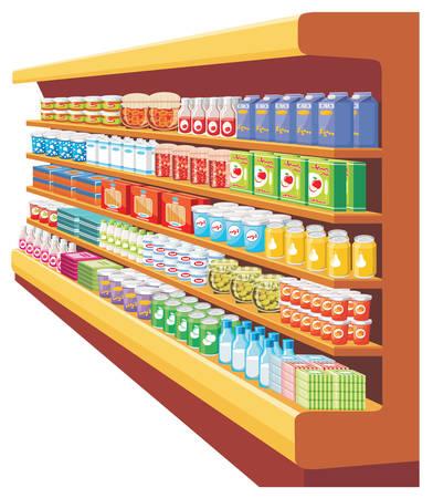 estanterias: Supermercado. vector Vectores