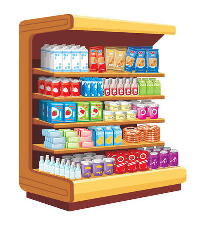 Supermarket. vector  Illustration