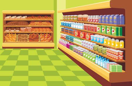 スーパー マーケット。ベクトル