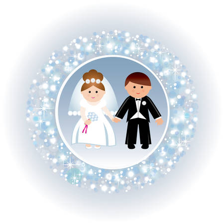 Greeting card with a wedding. vector Vector