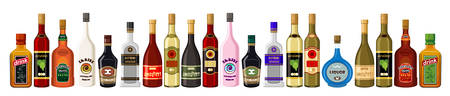 balsam: Banner alcoholic beverages. vector