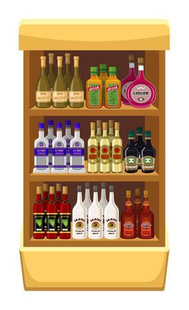 Shop alcoholic beverages. vector Vector