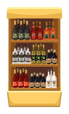 alcoholist: Winkel alcoholische dranken. vector