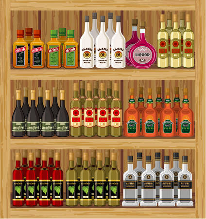 balsam: Set of alcohol bottles