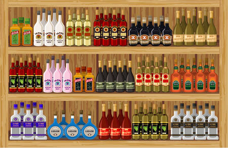 balsam: Shop alcoholic beverages. vector
