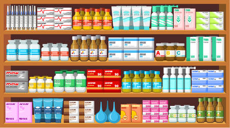medicamentos: Farmacia, medicine.Vector ilustraci�n