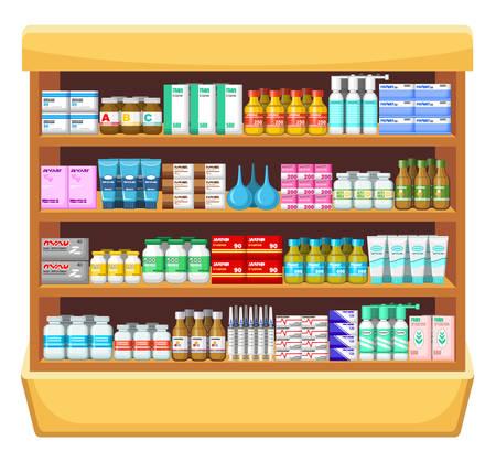 contraceptive: Pharmacy, medicine.Vector illustration