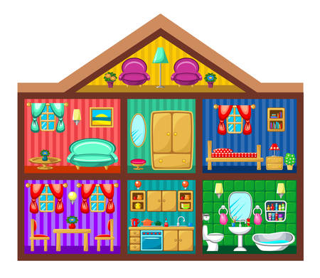 House in a cut. Vector illustration Vector