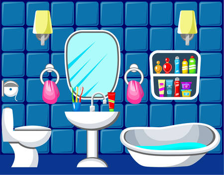 Bathroom. Vector illustration Vector