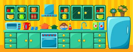 Kitchen interior. Vector illustration Vector