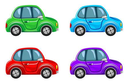 Cartoon cars.  Vector illustration