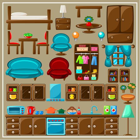 Set of furniture. Vector illustration Vector