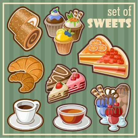 ice tea: Set of sweets