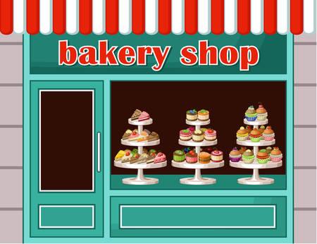 Afbeelding van een winkel snoep en bakkerij. Stockfoto - 31964180