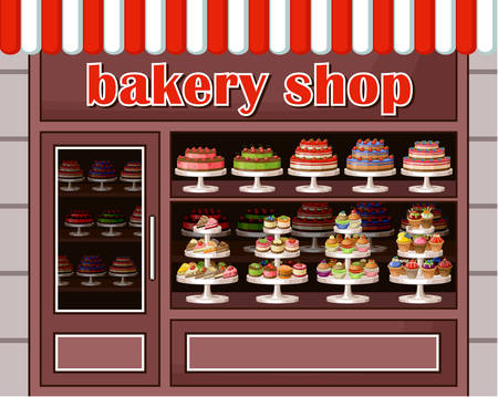 window case: Image of a store sweets and bakery.