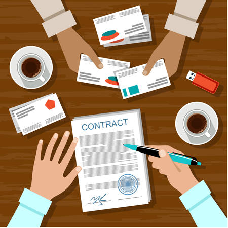 signing: Signing a contract. Business meeting.