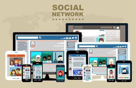Het concept van sociale netwerken, blogs en online communicatie Stockfoto - 32730110