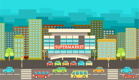 Supermarket. Illustration