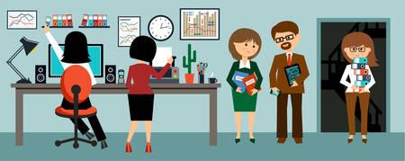 office worker cartoon: Office life Illustration