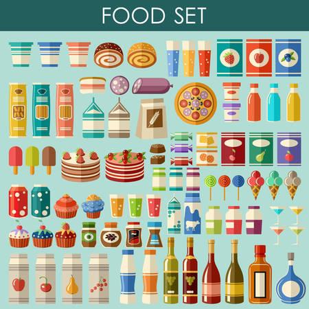 produits céréaliers: jeu alimentaire. vecteur Illustration