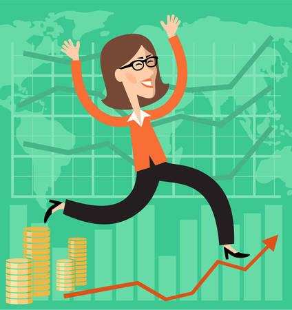 financial success: Finanzieller Erfolg.