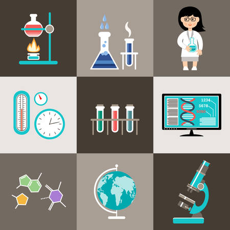 Science set. Infographic. Vettoriali