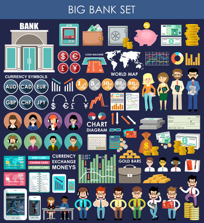 credit card payment: Finance & banking set. Money, finance.vector illustration
