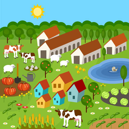 pastures: rural farmer elements