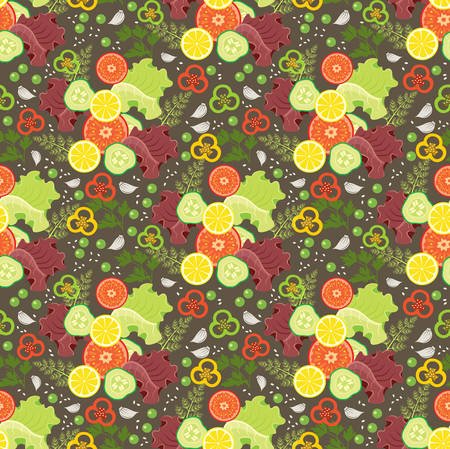agriculture wallpaper: Ornament from vegetables on a brown background