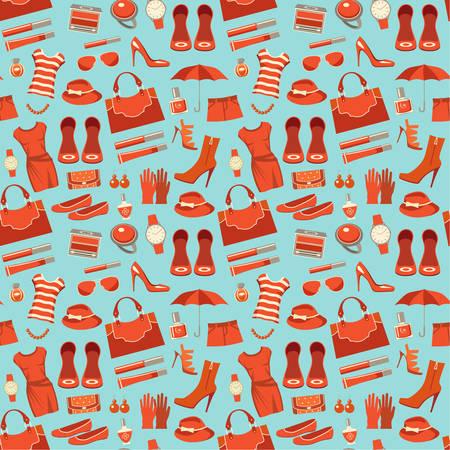 moda ropa: patrón de la moda con la ropa