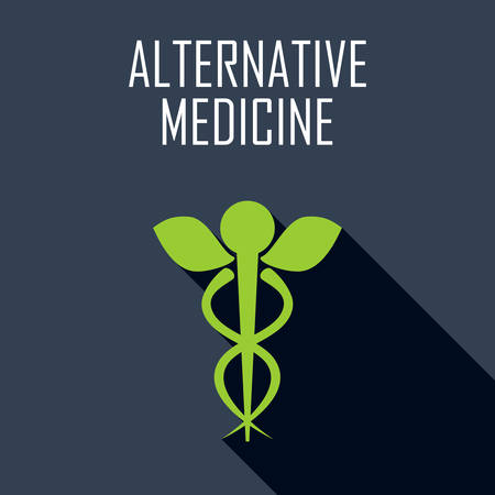 care: Alternative medicine. Flat icon. Vector illustration