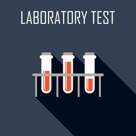 Laboratory test. Flat icon. Vector illustration Illustration