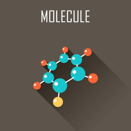 molecula: Molécula. icono plana. ilustración vectorial Vectores