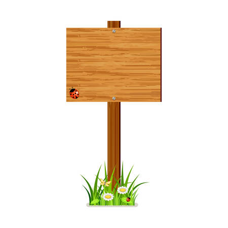 wood frame: Vector wooden index on a white background