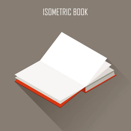 handbook: The vector image of isometric book in the opened look