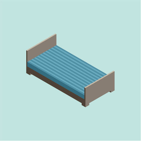 hotel rooms: 3D isometric vector bed