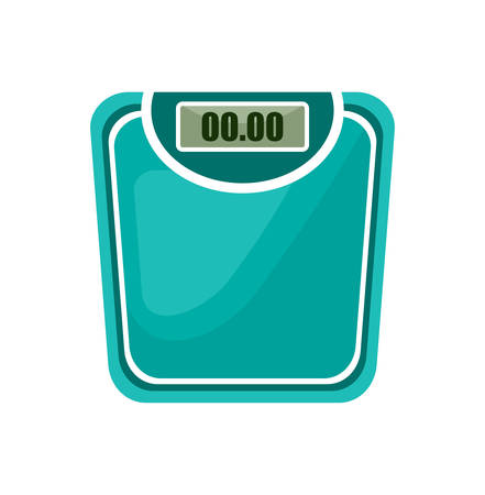 white bathroom: Bathroom scales on the white background. Vector