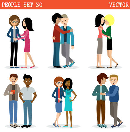 Gays and lesbian couple. Lgbt. Tolerance. Vector