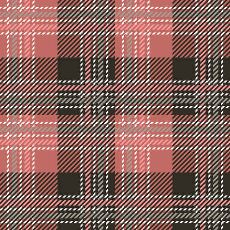 Tartan seamless vector patterns in pink-gray colors  イラスト・ベクター素材