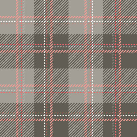 patterns and colors: Tartan seamless vector patterns in pink-gray colors Illustration