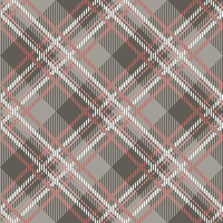 tartan: Tartan seamless vector patterns in pink-gray colors Illustration