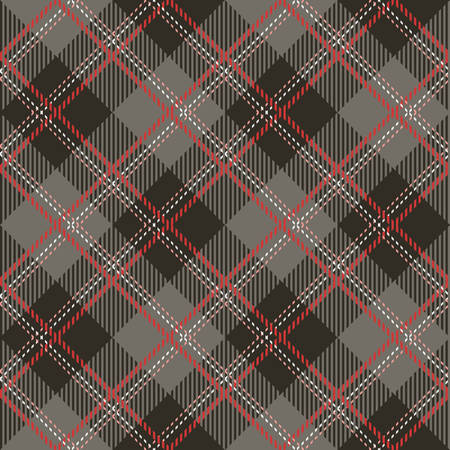 Tartan seamless vector patterns in pink-gray colors Illustration
