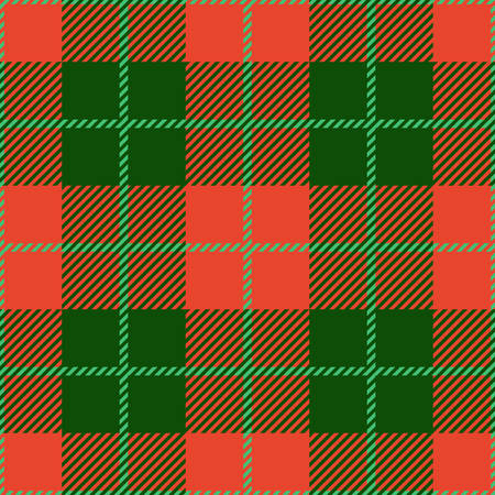 patterns and colors: Christmas tartan seamless vector patterns in grin and red colors