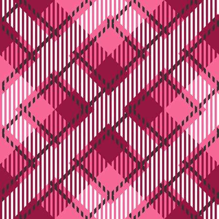 Tartan seamless vector patterns in pink-gray colors Illustration