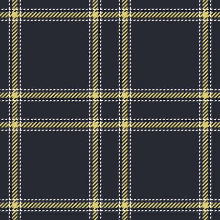 Fabric Texture: Tartan seamless vector patterns in blue and yellow colors